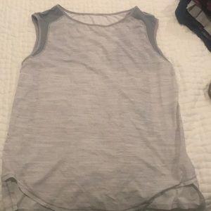 Gray Lululemon Muscle Tank top